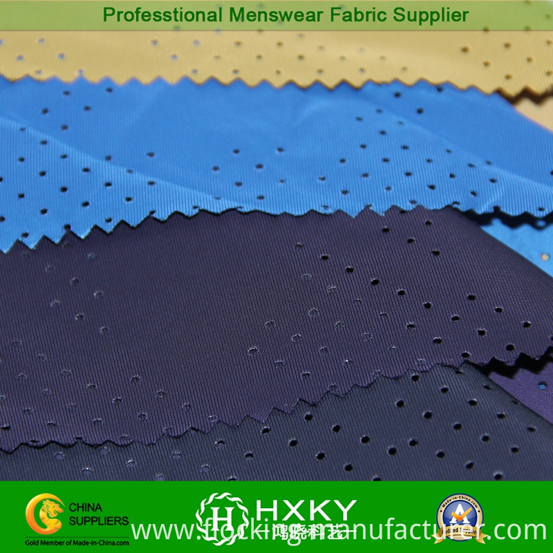 Plain Dyed Perforated Polyester Fabric for Jacket or Lining