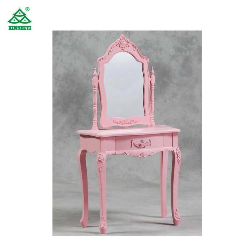 Economic Anquite Dressing Table with Mirror for Hotel, Hotel Contemporary Dressing Table