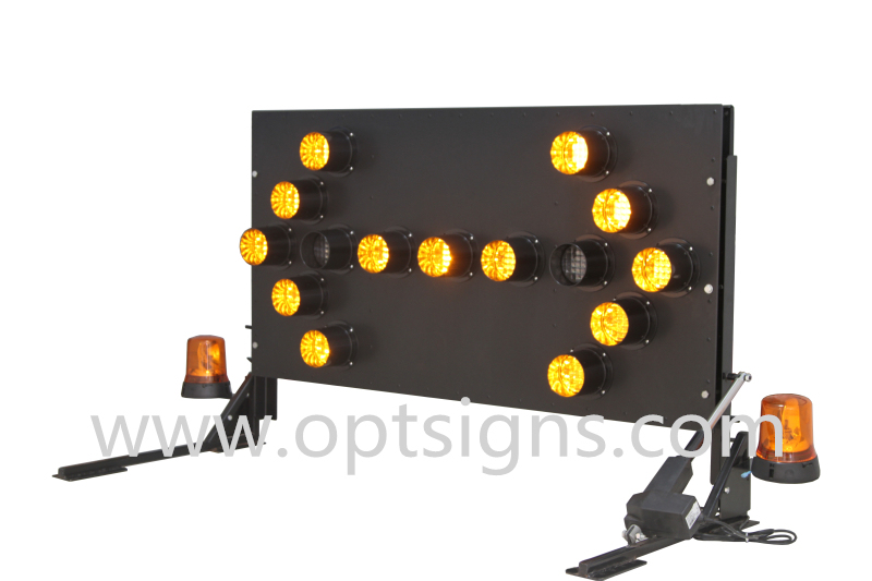 Vehicle Mounted LED Warning Light Road Safety Arrow Board