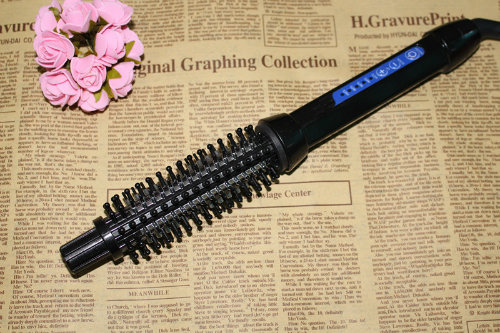 New Product Ionic Electric Hair Straightening Comb Curler Brush