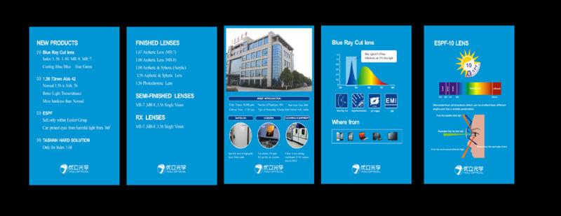 75mm 1.60UV400 Asp Hmc EMC blue Block Optical Lens
