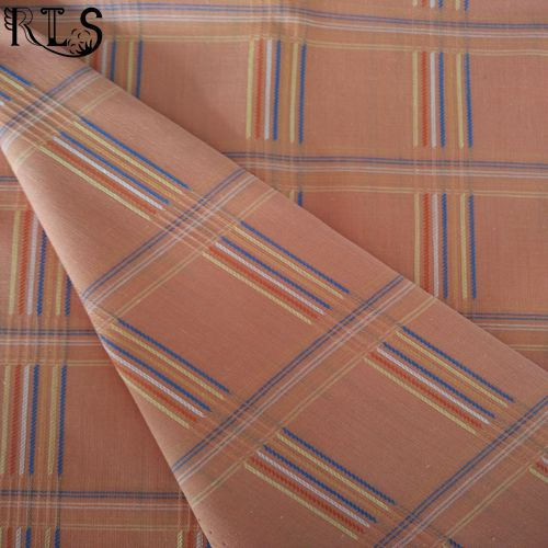 Cotton Polyester T/C Jacquard Yarn Dyed Fabric for Shirts/Dress Rls45-1tc