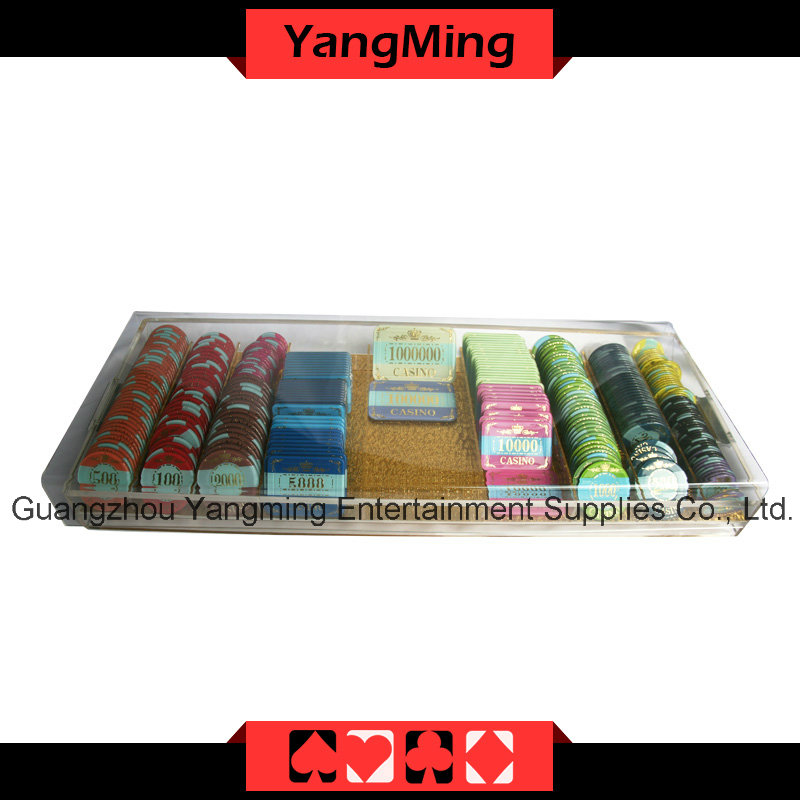 High-Grade Acrylic Handle Chip Tray with Lock (YM-CT09)