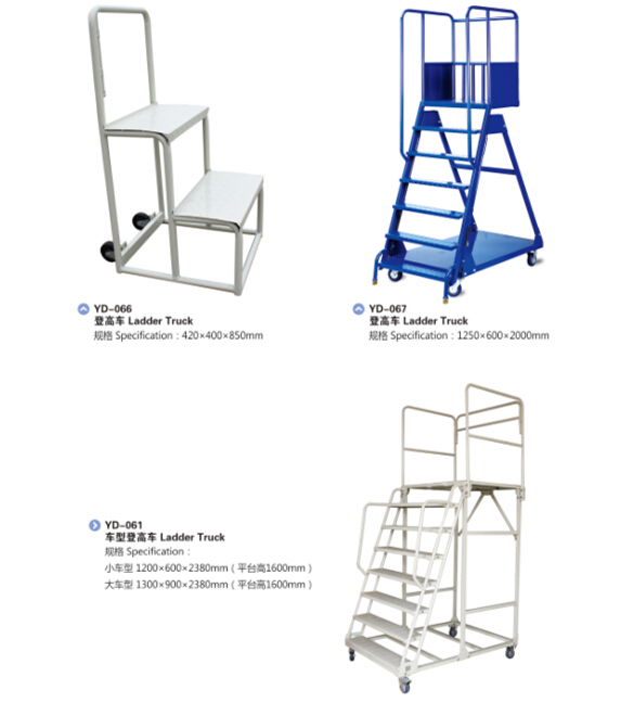 Heavy Duty Warehouse Steel Storage Ladder Truck Cart