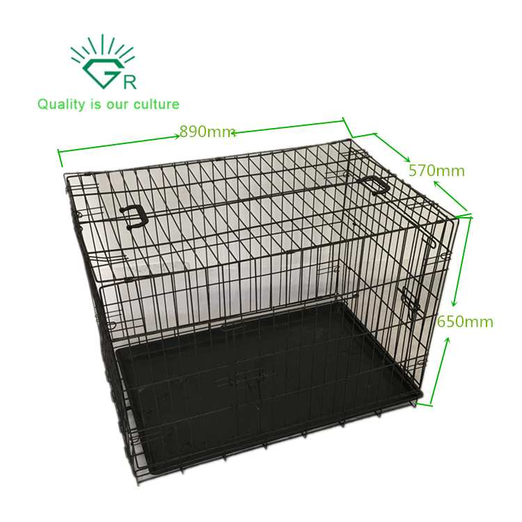 Folding Metal Wire Pet Dog Cage and Crate