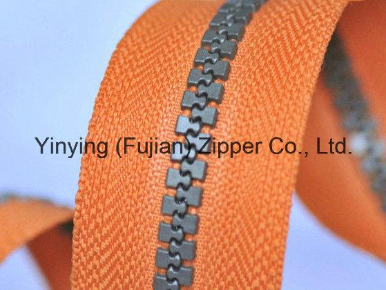 Hot Sell Plastic Zipper Roll Fancy Plastic Zipper Long Chain