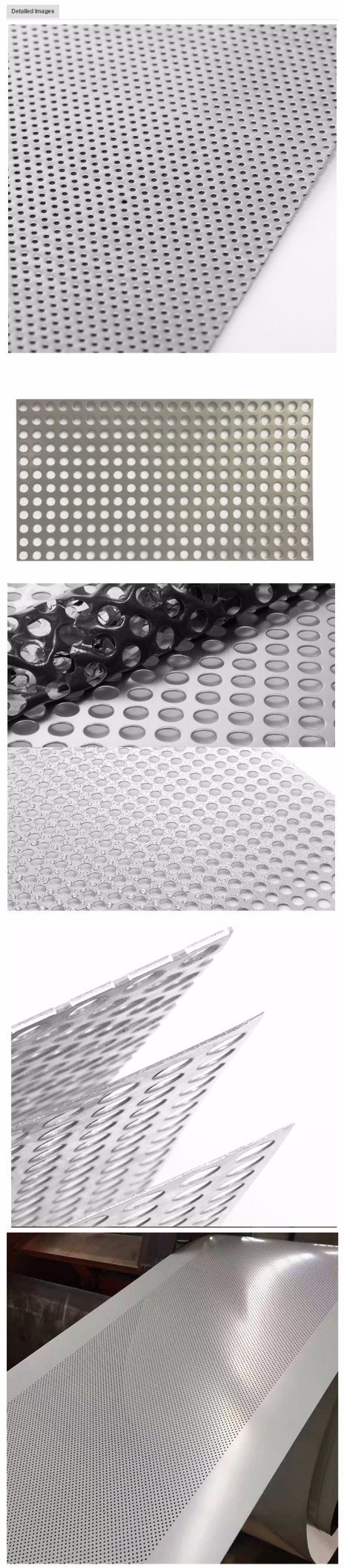Porous Meal Plate 0.2mm Round Hole Perforated Metal Sheet