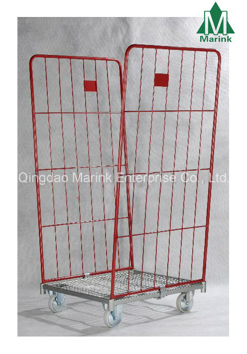 2-Sides Warehouse Foldable Trolley Roll Cage
