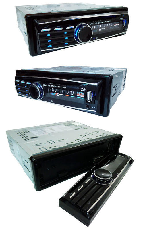 Single DIN Detachable Panel Car DVD Player