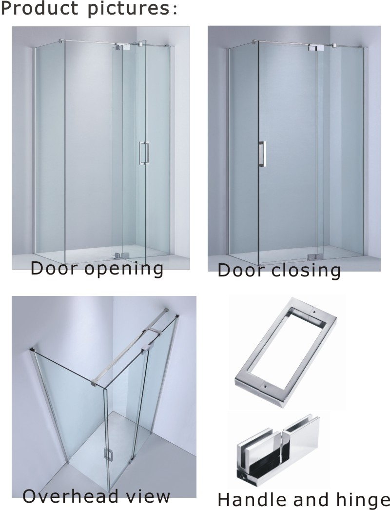 Sanitary Ware Tempered Glass Shower Enclosure/Shower Screen (A-KW02)