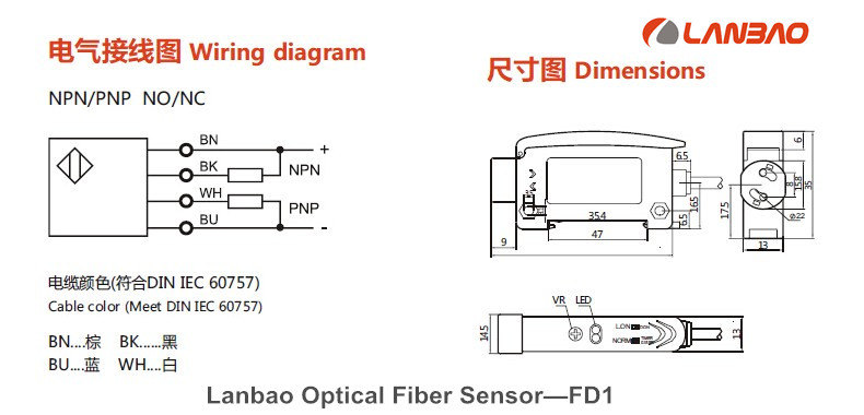 Lanbao Optical Fiber Sensor Fiber Amplifier