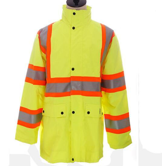 100% Polyester Raincoat Luminous Waterproof Protective Clothing