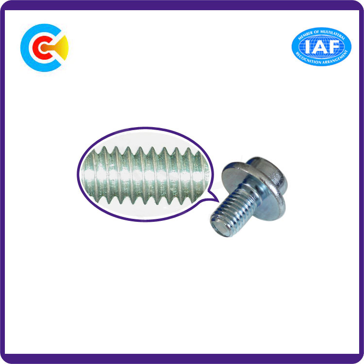 Carbon Steel/4.8/8.8/10.9 Cheese Head Hexagon Socket Cap Screw with Washer