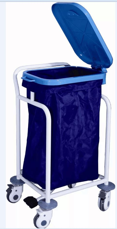 Coated Steel Medical Trolley for Waste Collecting