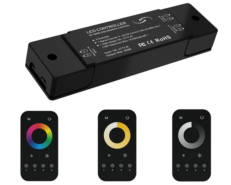 New Single Color/W+Ww/RGB 2.4G Wireless Grouping LED Controller with Ce RoHS FCC