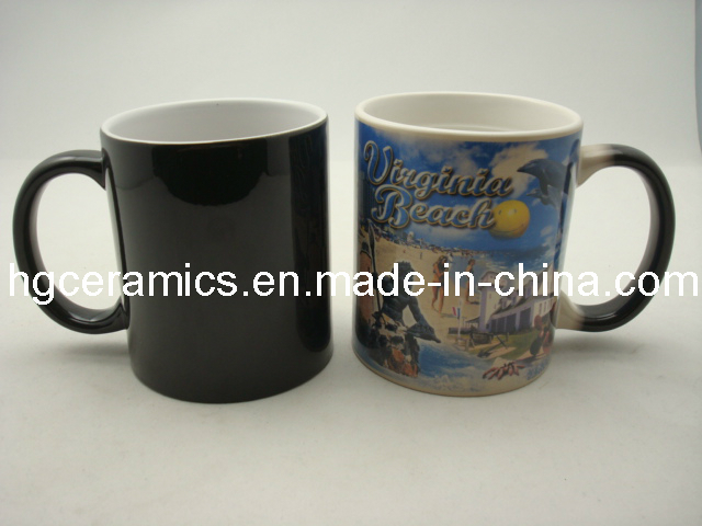 11oz Magic Mug, Black Color Change Mug