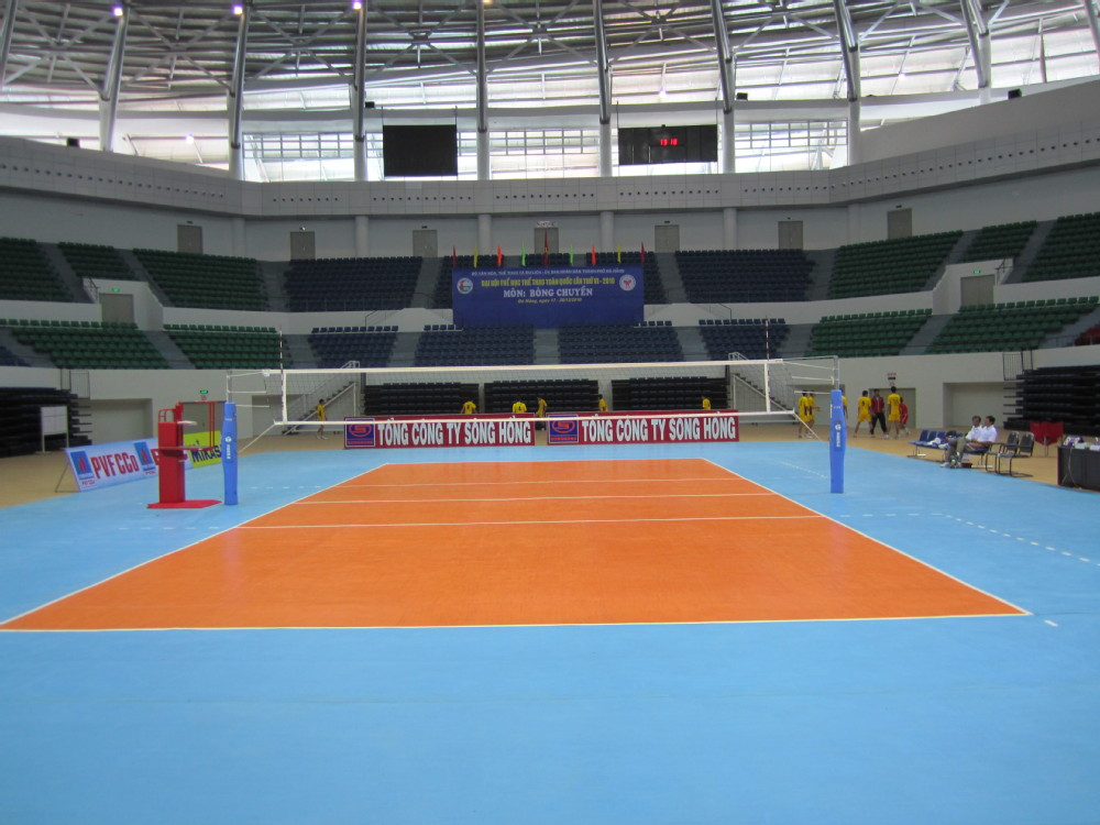 volleyball court manufactured by ENLIO