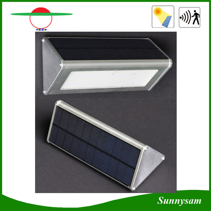 1000lm Microwave Radar Motion Sensor Aluminium LED Solar Garden Light