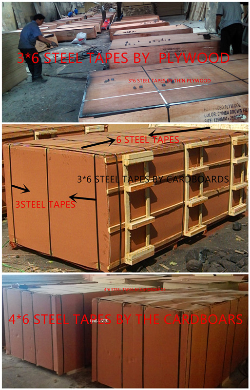 Phenolic Glue Film Faced Plywood Birch Core Brown Film