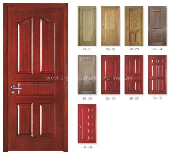 Natural Wood Veneer Moulded Door Skin S9-1003