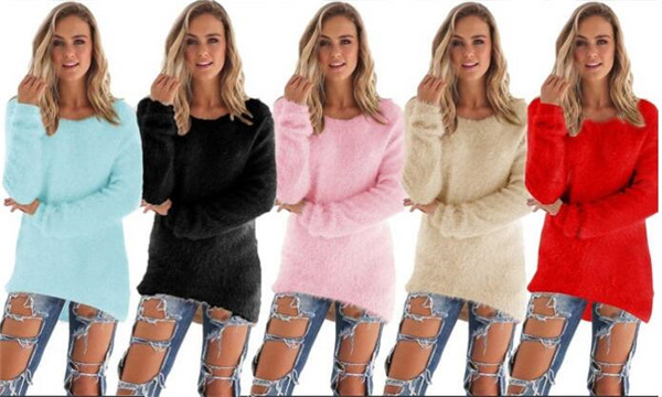 2016 Fashion Women's Fluffy Jumper Sweater (80005)