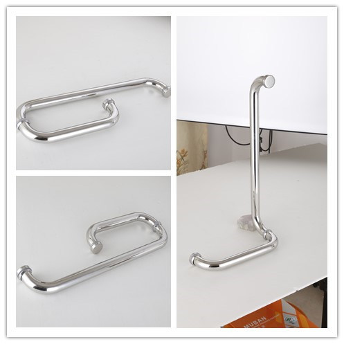 Stainless Steel Glass Door Handle Bathroom Door Pull Handle