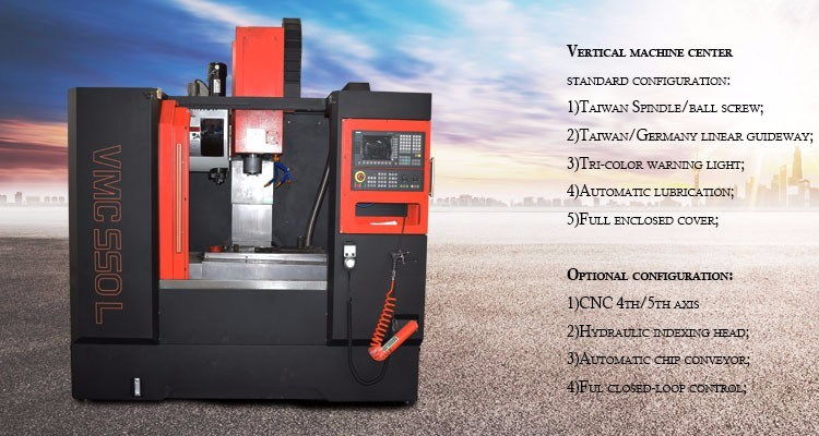 Vmc850 CNC Metal Spinning Machine with High Cost Performance