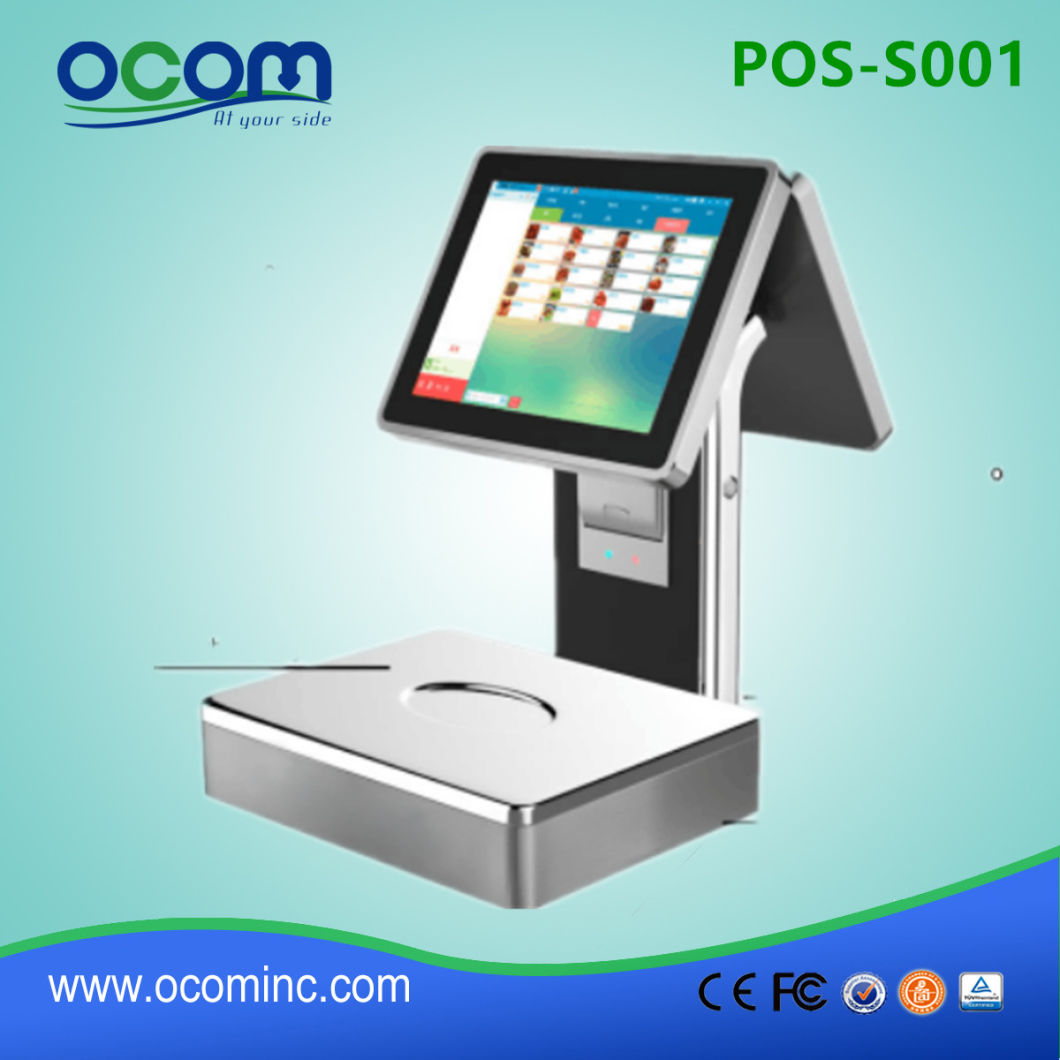 12 Inch Factory Electronic All in One Touch Screen POS Cash Register with Printer /Scale