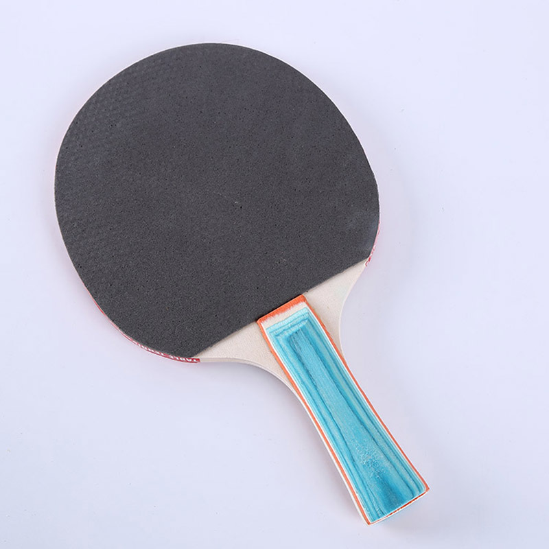 Poplar Wood Cheap Price Table Tennis Rackets Kit with colorful Haddle