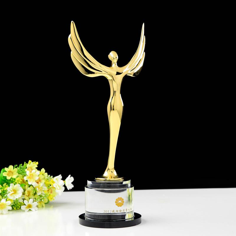 Customized Angel Crystal Trophy Oscar Trophy Award - Free Engraving