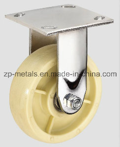 Heavy-Duty White Nylon Fixed Caster Wheel