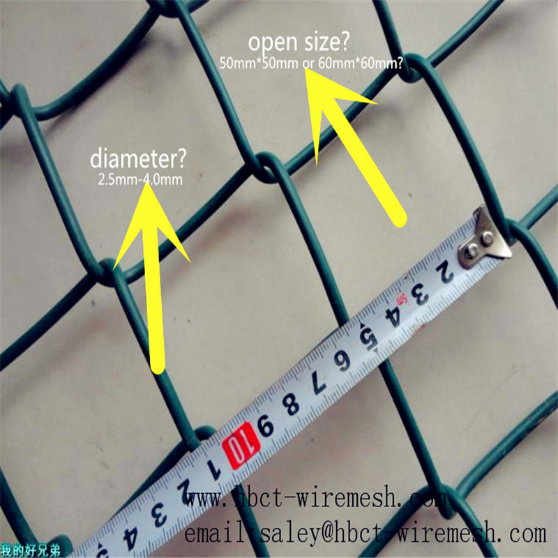 PVC Coated Chain Link Fence/Wire Mesh Fence