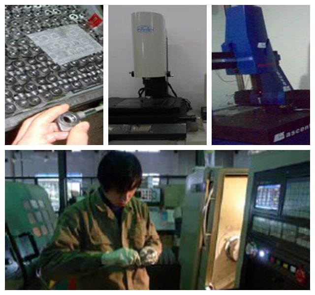 customized die casting part with black painting