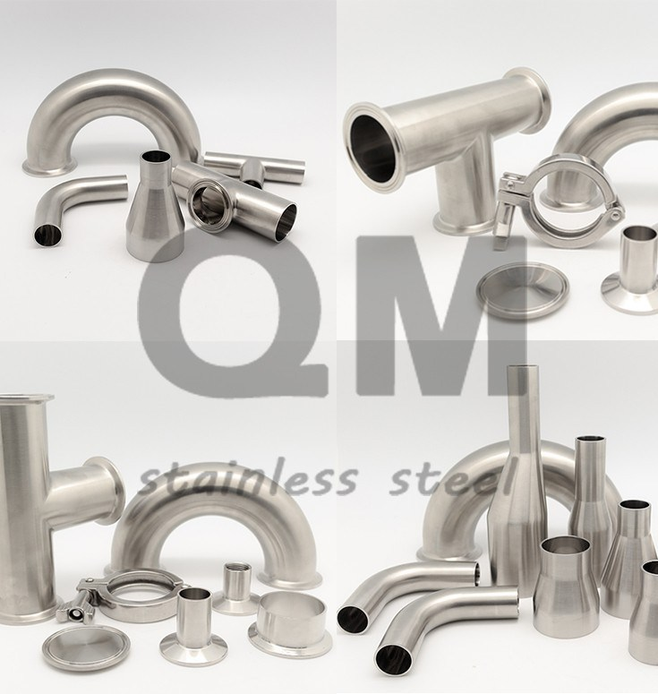 Stainless Steel Clamp End, SS304/SS316L Pipe Spool
