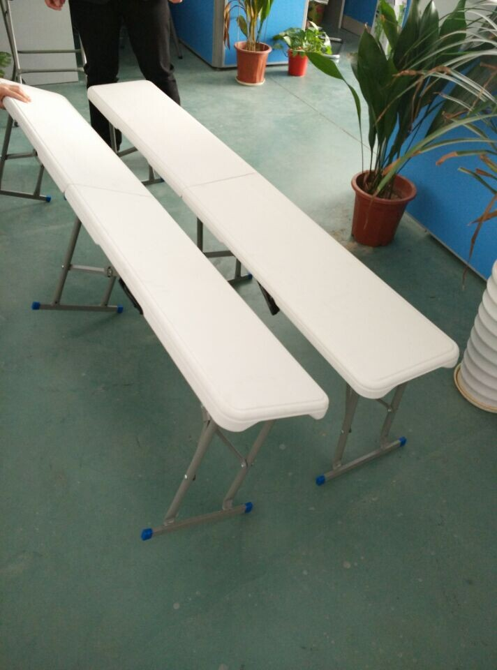 6FT Plastic Folding Bench, Garden Bench, Balcony Bench Easy Carrying Bench