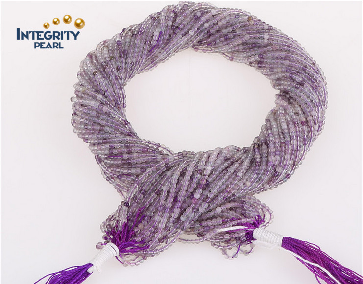 High Quality Gemstone Natural Quartz Strands Size 2mm 3mm Purple Chinese Crystal Beads