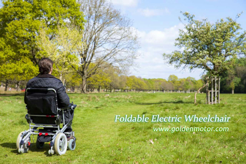 8inch Foldable Power Brushless Electric Wheelchair for Handicaped