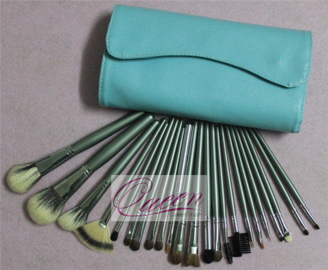 23PCS Goat Hair Cosmetic Brush Set with Makeup Brush Bag