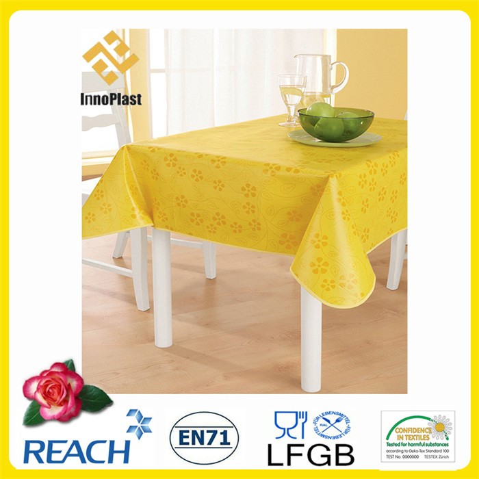 PVC Printed Tablecloth with Backing in Roll Factory