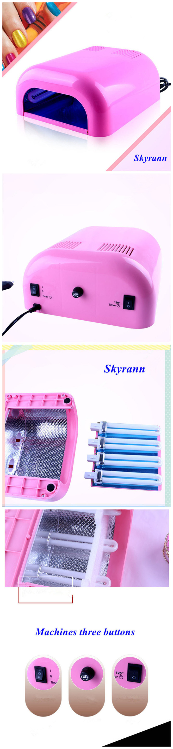 36W Nail Gel 230 UV Curing Lamp/Nail Art Gel Curing UV Lamp