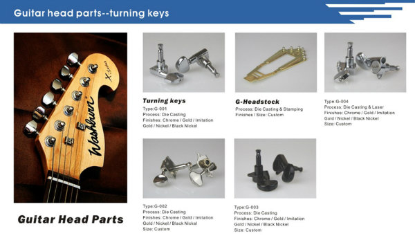 Golden Metal Tailpiece Guitar Part