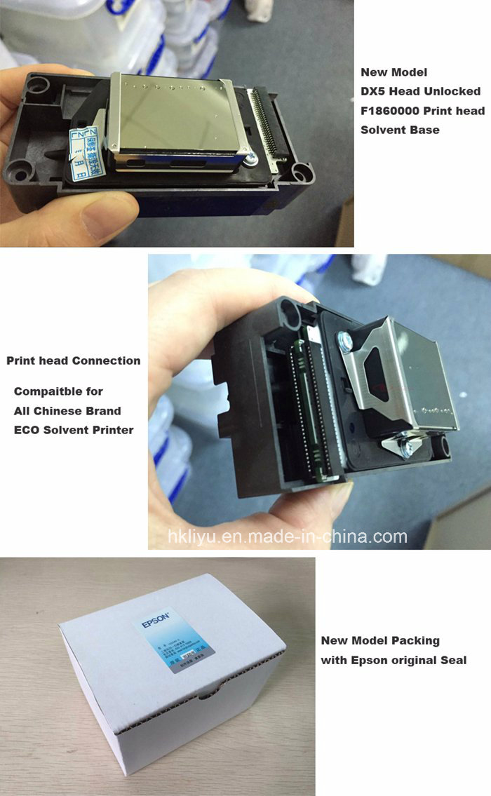 Ep Son F186000 Dx5 Solvent Print Head for Galaxy Gongzheng Witcolor Twinjet Micolor Allwin Printer Unlocked Dx5 Printhead