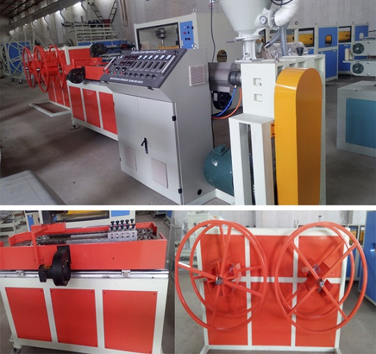 PE Single Wall Corrugated Plastic Pipe Extrusion Production Line