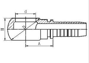 Hydraulic Hose Fitting 72011 Bsp Banjo