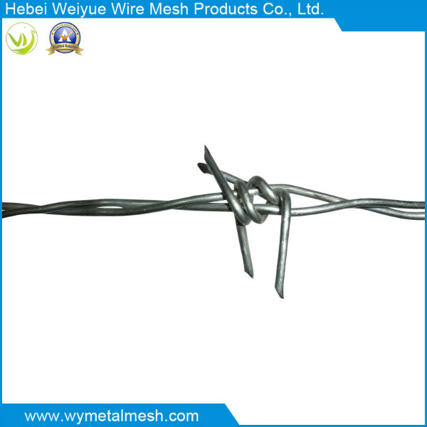 Reversed/Positive Twist Barbed Iron Wire