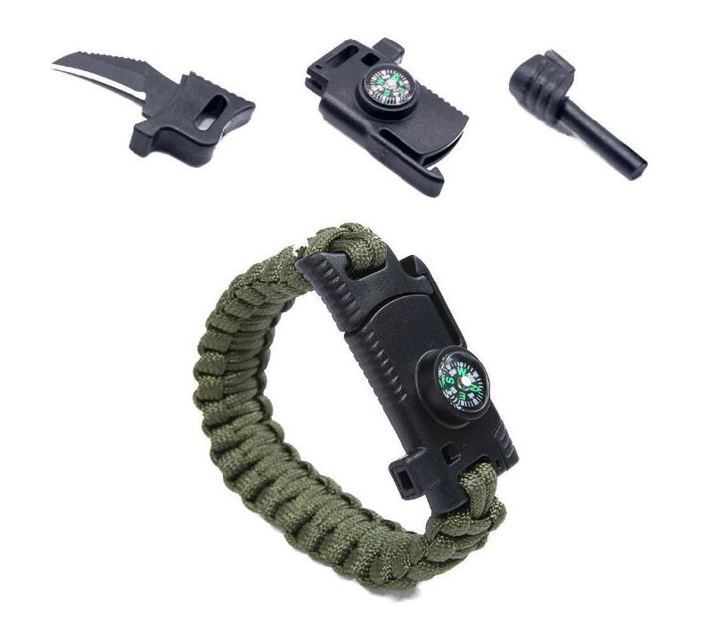 Emergency Outdoor Paracord Survival Bracelet with Multi Tool