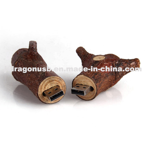 Eco-Friendly Natural Wood Branch USB Flash Drive (JW149)