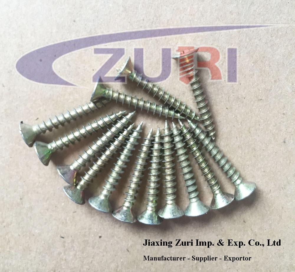 Chipboard Screw Yellow Zinc 4.0*12