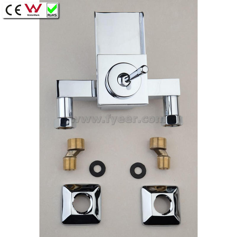 Single Level Handle Wall Mounted Waterfall Brass Bath Faucet (QH0510-1W)