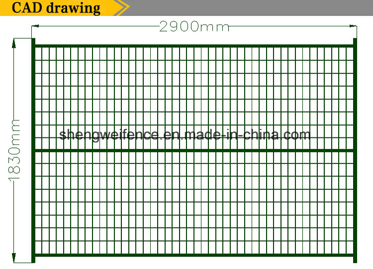 Temporary Welded Fence Movable Fence